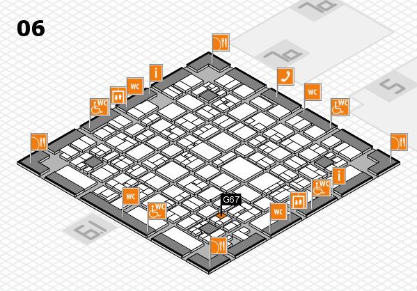 EuroShop 2017 hall map (Hall 6): stand G67