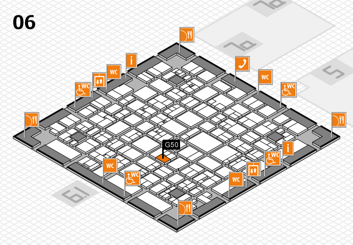 EuroShop 2017 hall map (Hall 6): stand G50