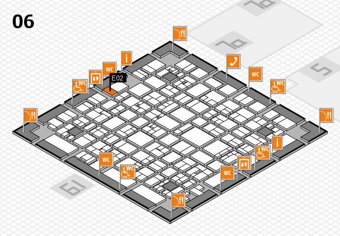 EuroShop 2017 hall map (Hall 6): stand E02