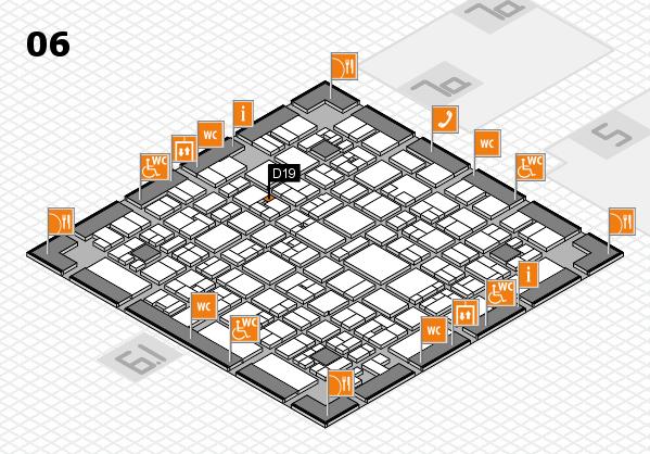 EuroShop 2017 hall map (Hall 6): stand D19