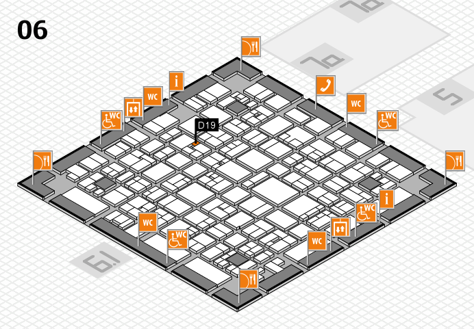 EuroShop 2017 hall map (Hall 6): stand D19