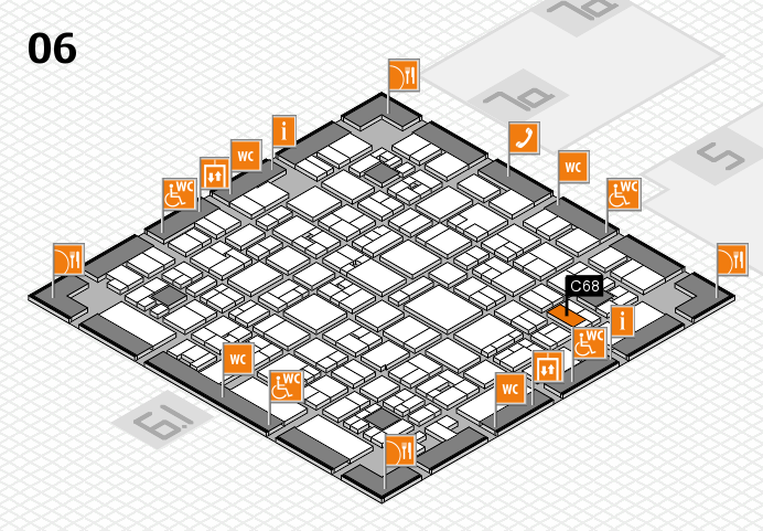 EuroShop 2017 hall map (Hall 6): stand C68