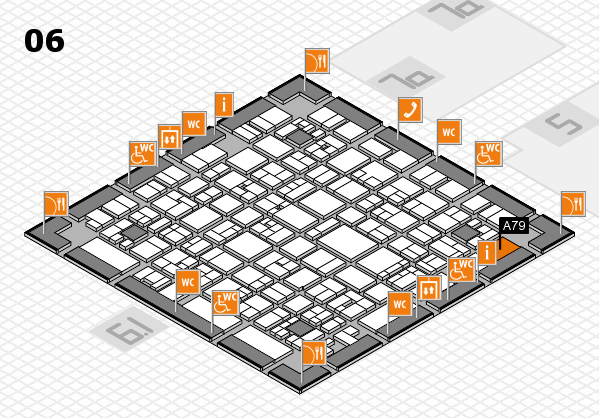 EuroShop 2017 hall map (Hall 6): stand A79