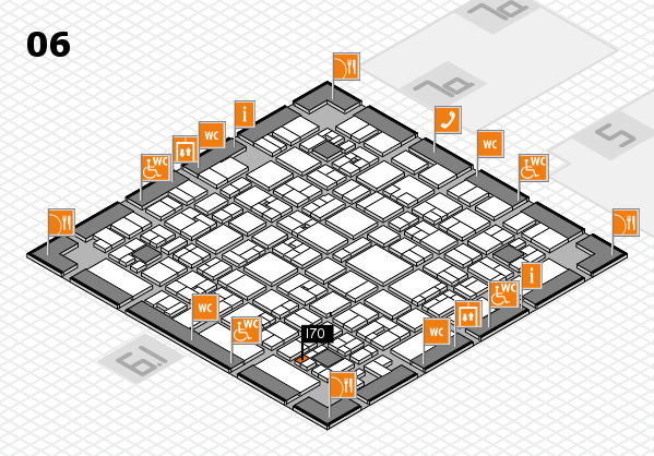 EuroShop 2017 hall map (Hall 6): stand I70