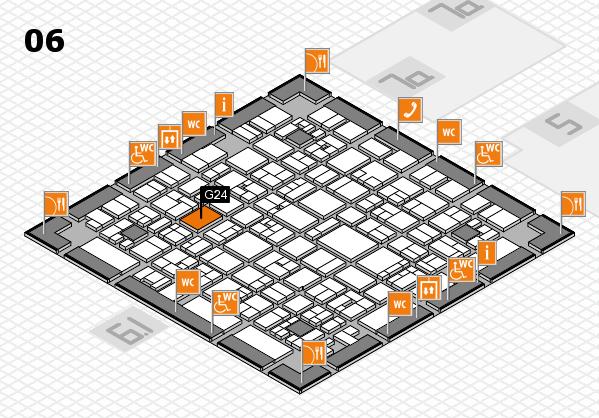 EuroShop 2017 hall map (Hall 6): stand G24