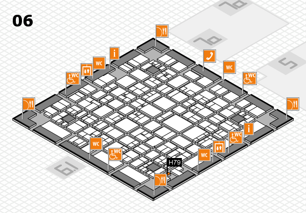 EuroShop 2017 hall map (Hall 6): stand H79