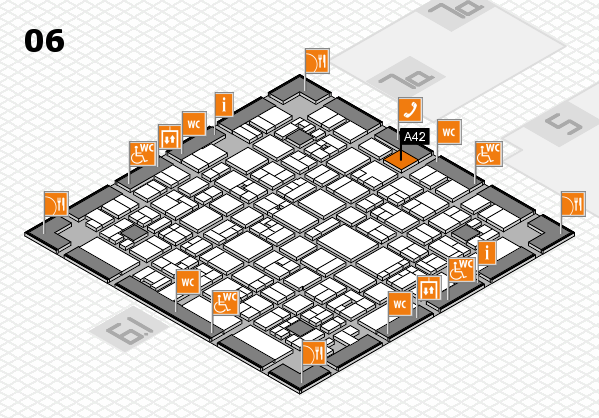 EuroShop 2017 hall map (Hall 6): stand A42