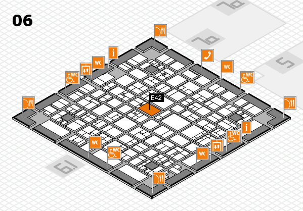 EuroShop 2017 hall map (Hall 6): stand E42