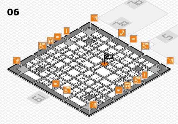 EuroShop 2017 hall map (Hall 6): stand C45