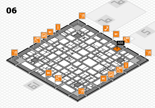 EuroShop 2017 hall map (Hall 6): stand A58