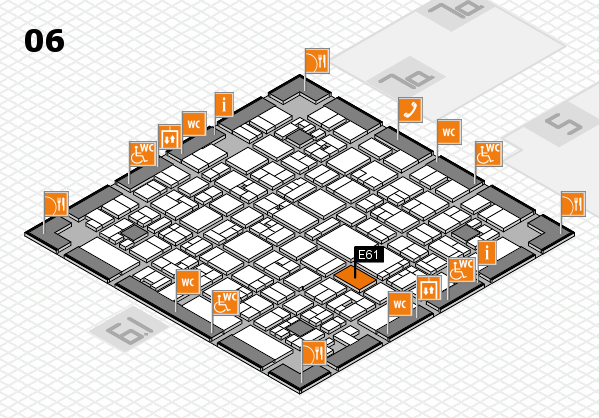 EuroShop 2017 hall map (Hall 6): stand E61
