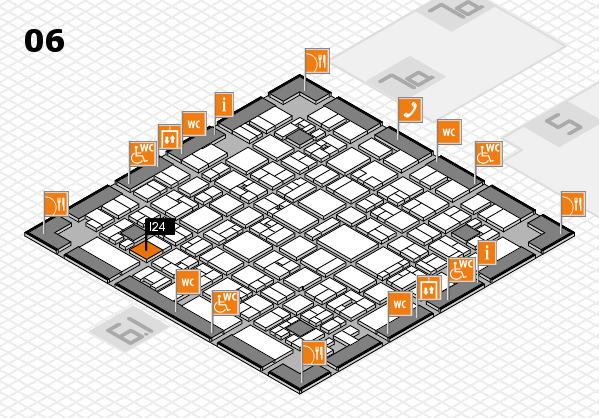 EuroShop 2017 hall map (Hall 6): stand I24
