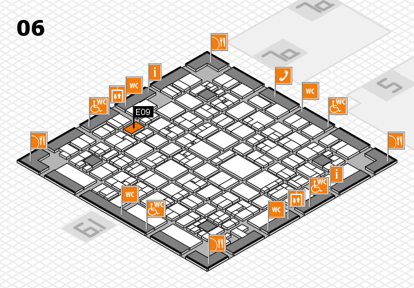 EuroShop 2017 hall map (Hall 6): stand E09