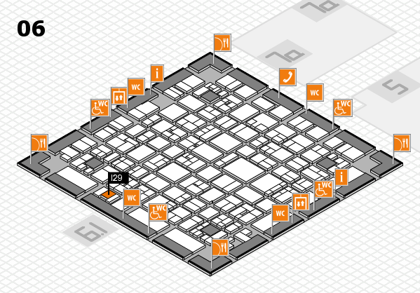 EuroShop 2017 hall map (Hall 6): stand I29