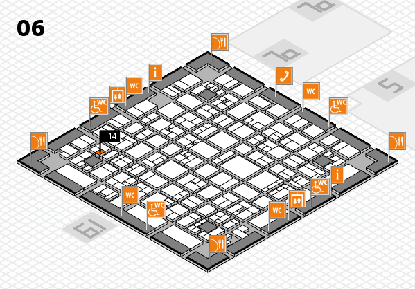 EuroShop 2017 hall map (Hall 6): stand H14