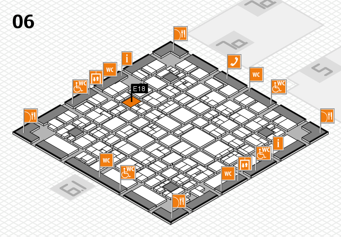 EuroShop 2017 hall map (Hall 6): stand E18