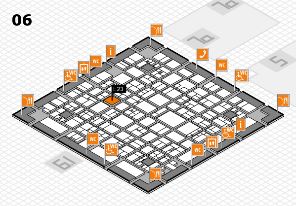 EuroShop 2017 hall map (Hall 6): stand E23