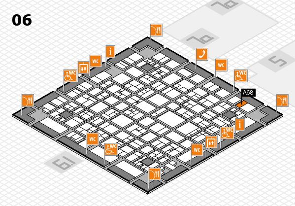 EuroShop 2017 hall map (Hall 6): stand A68