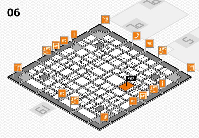 EuroShop 2017 hall map (Hall 6): stand E62