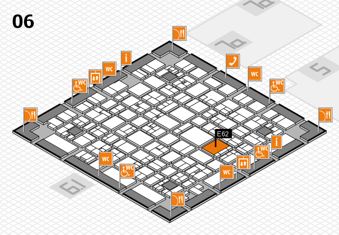 EuroShop 2017 hall map (Hall 6): stand E62