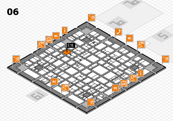 EuroShop 2017 hall map (Hall 6): stand E18