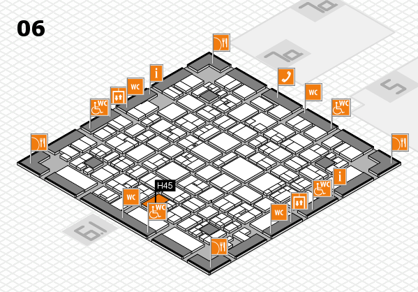EuroShop 2017 hall map (Hall 6): stand H45