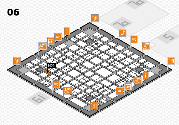EuroShop 2017 hall map (Hall 6): stand H23