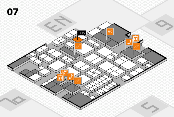 EuroShop 2017 hall map (Hall 7): stand B06
