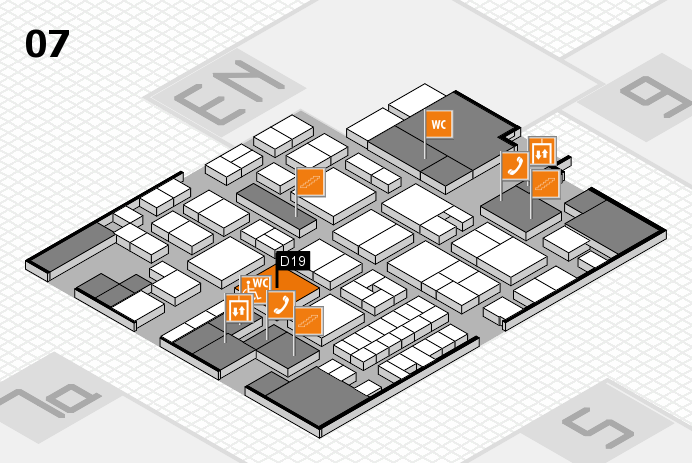EuroShop 2017 hall map (Hall 7): stand D19