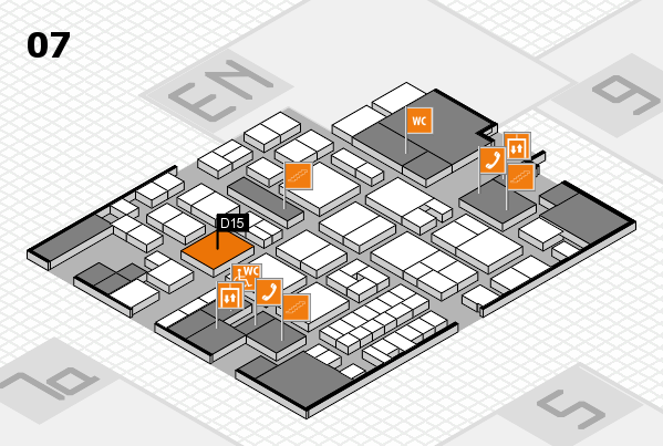 EuroShop 2017 hall map (Hall 7): stand D15