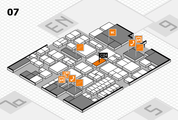 EuroShop 2017 hall map (Hall 7): stand C24