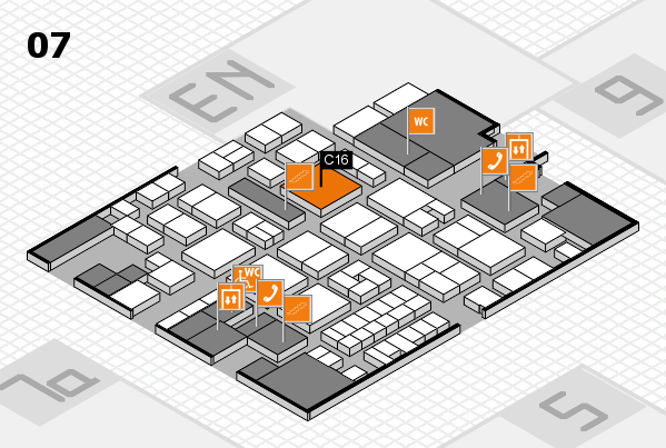 EuroShop 2017 hall map (Hall 7): stand C16