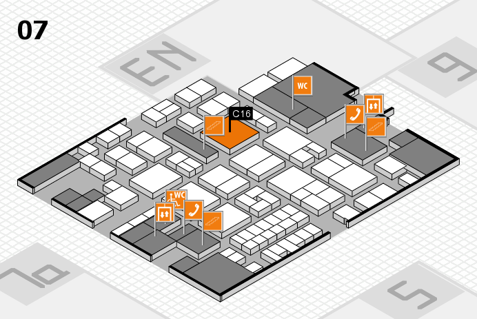 EuroShop 2017 hall map (Hall 7): stand C16