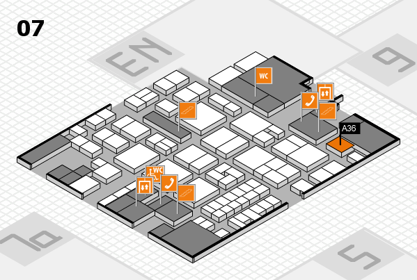 EuroShop 2017 hall map (Hall 7): stand A36