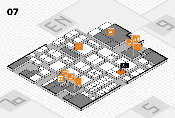 EuroShop 2017 hall map (Hall 7): stand B33