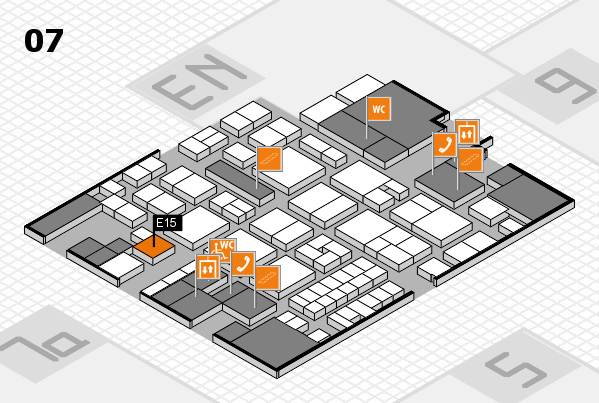 EuroShop 2017 hall map (Hall 7): stand E15