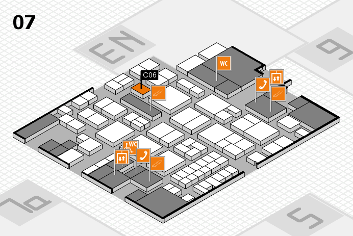EuroShop 2017 hall map (Hall 7): stand C06