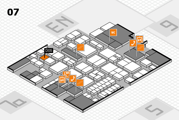 EuroShop 2017 hall map (Hall 7): stand D05