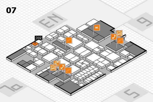 EuroShop 2017 hall map (Hall 7): stand D02