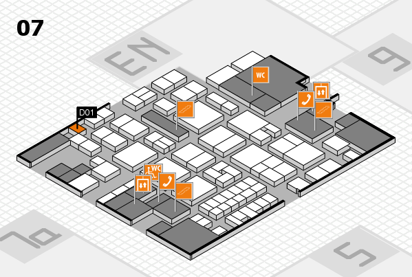 EuroShop 2017 hall map (Hall 7): stand D01
