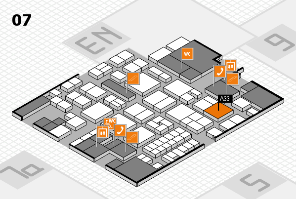 EuroShop 2017 hall map (Hall 7): stand A33