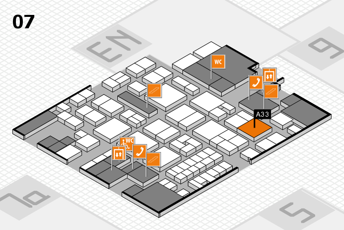 EuroShop 2017 hall map (Hall 7): stand A33