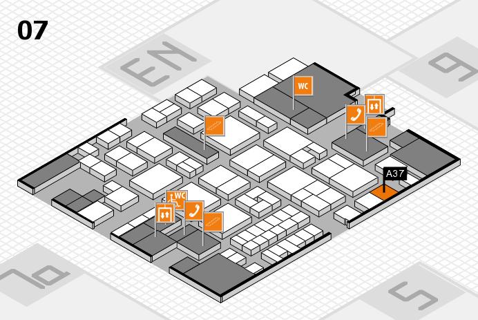 EuroShop 2017 hall map (Hall 7): stand A37