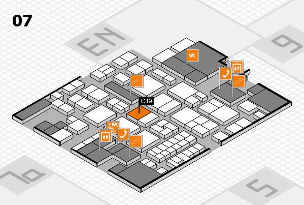 EuroShop 2017 hall map (Hall 7): stand C19