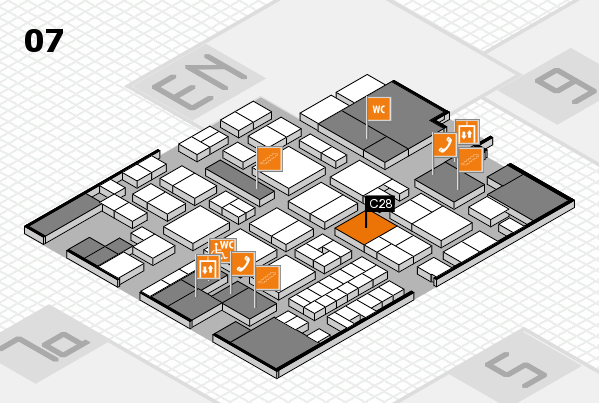 EuroShop 2017 hall map (Hall 7): stand C28