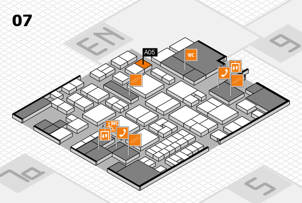 EuroShop 2017 hall map (Hall 7): stand A05