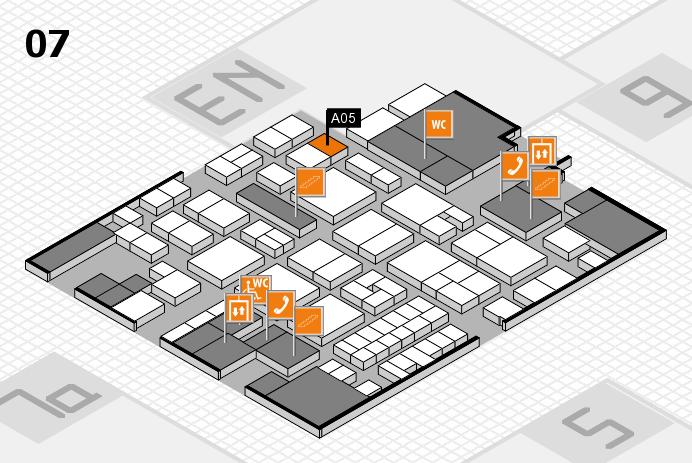 EuroShop 2017 hall map (Hall 7): stand A05