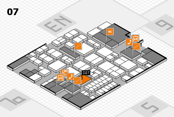 EuroShop 2017 hall map (Hall 7): stand D27