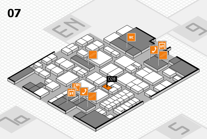 EuroShop 2017 hall map (Hall 7): stand D28