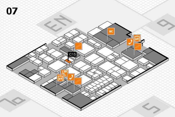 EuroShop 2017 hall map (Hall 7): stand C15